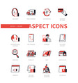 delivery - modern line design style icon set vector image