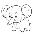 elephant toy stands and waits for someone to play vector image vector image