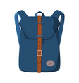 front view schoolbag or camping backpack flat vector image vector image