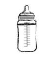 grunge plastic bottle feeding baby nutrition vector image