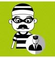 hacker security vigilant vector image