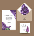 hand drawn invitation for the wedding card vector image