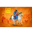 Happy Guru Gobind Singh Jayanti festival for Sikh vector image vector image