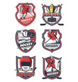 ice hockey sport team icons vector image