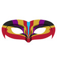 isolated colored carnival mask vector image