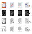 isolated object of form and document sign set of vector image vector image