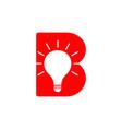 letter b light bulb idea symbol logo