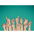 like hands sign and sky vector image vector image