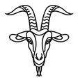 linear stylized drawing goats head vector image vector image