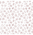 love linear concept seamless pattern vector image vector image