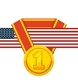 medal award design vector image
