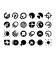 modern professional set logos planet technology vector image vector image