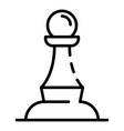 pawn chess element icon outline style vector image