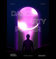 poster design template in futurism style vector image vector image