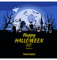 poster happy halloween holiday pumpkin cemetery vector image vector image