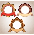 Retro Badge And Ribbon vector image