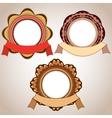 Retro Badge And Ribbon vector image vector image