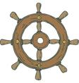 Retro Ship Steering Wheel vector image