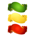 ribbon banners vector image vector image