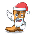 santa leather cowboy boots shape cartoon funny vector image vector image