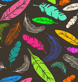 Seamless pattern of bird feathers vector image vector image