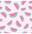 seamless pattern with bright watermelons vector image vector image