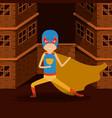 sepia color background buildings brick facade with vector image vector image