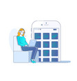 smart phone online shopping concept flat vector image vector image