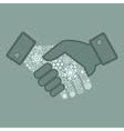 Snowflake hand shake vector image vector image