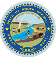 South Dakota Seal vector image vector image