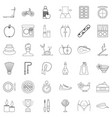 spa icons set outline style vector image vector image