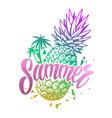 summer colorful vintage emblem vector image vector image