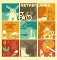 traditional symbols of the netherlands vector image vector image