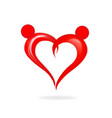 valentine abstract heart figure vector image