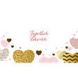 valentine day design template vector image