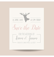 Wedding Invitation Card - Save the Date vector image vector image