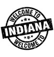 welcome to indiana black stamp vector image vector image