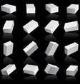 white boxes cube set vector image vector image