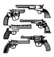 monochrome of retro weapons vector image