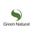 green natural logo vector image