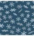 3D snowflakes Blue seamless background vector image