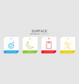 4 surface icons vector image vector image