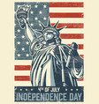 4th of july vintage poster vector image vector image