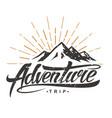 adventure vintage logo vector image