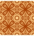 Arabian seamless background in brown color Vinatge vector image vector image