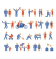 Assortment of Family and Couple Pictogram Icons vector image vector image