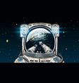 astronaut spaceman soaring astronomical galaxy vector image vector image