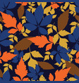 autumn leaves seamless pattern repeat vector image vector image