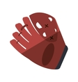 baseball catcher glove isolated icon vector image