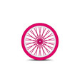 bicycle wheel in pink design with shadow vector image vector image